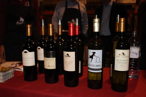 Das Montlobre-Sortiment der diesjährigen Herbstweinverkostung bei Gottardi.