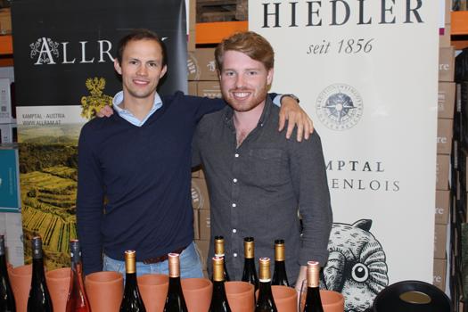 Weinfreunde: Lorenz Allram und Dietmar Hiedler.