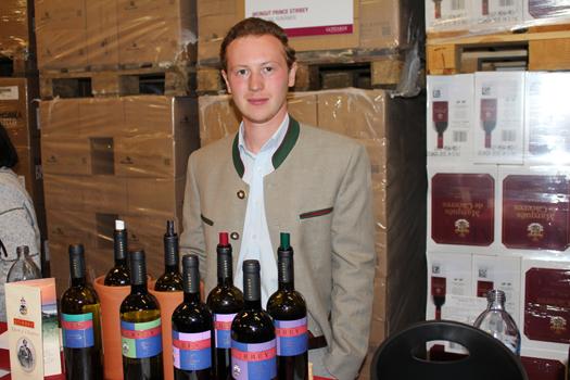 Martin Kripp vertrat das Weingut Stirbey aus Rumänien.
