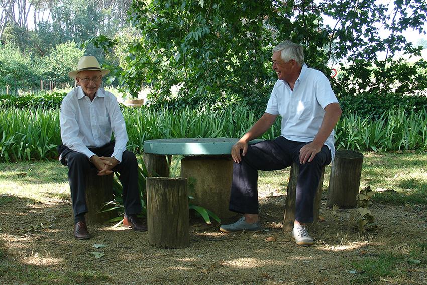 Zwei erfahrene Weinexperten und eine tolle Idee: Bruno Gottardi und Hans Walraven, früherer Besitzer der Domaine de la Jasse.