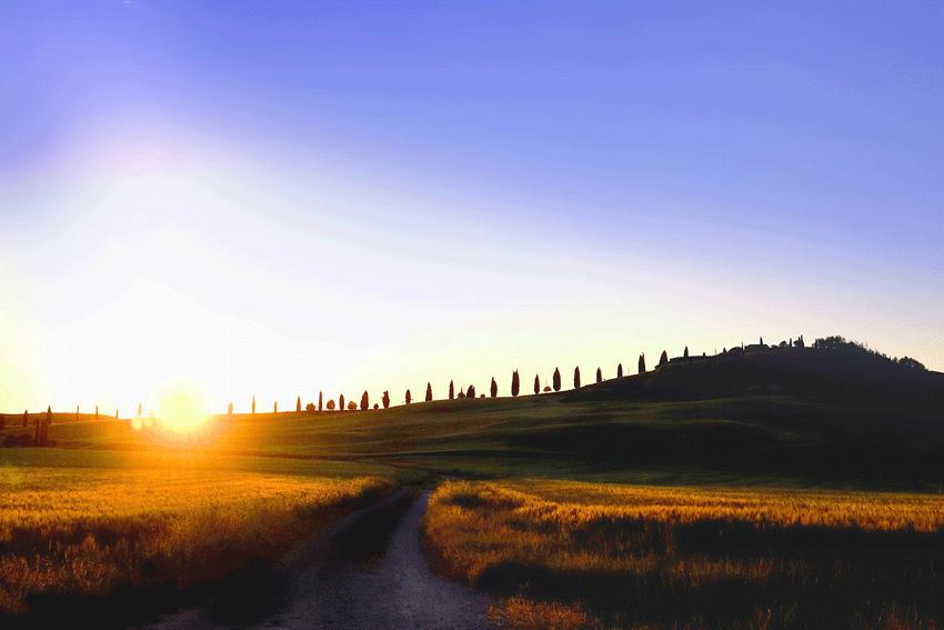 Morgenstimmung in der Toskana.