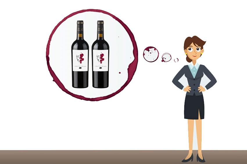 Frau träumt vom eigenen Wein.
