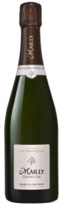 Eine Flasche Blanc de Pinot Noir von Mailly Champagne.